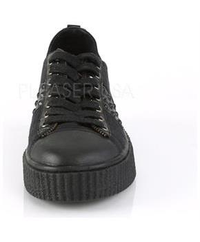 "1 1/2"" PF Round Toe Lace-Up Front Low Top Creeper Sneaker"