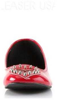 *Round Toe Flat w/See-Through Heart Cutout & Spikes Detail