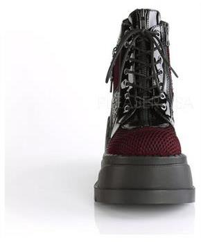 "4 3/4"" PF Lace-Up Wedge Bootie, Inside Zip"