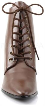 "2 3/4"" Kitten Heel Front Lace Up Ankle Boot"