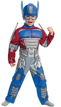 Optimus Eg Toddlr Muscle 3T 4T Costume