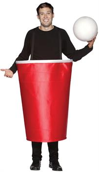 Red Beer Pong Cup Costume
