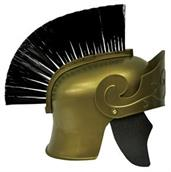 Roman Helmet Gd With Black Brush