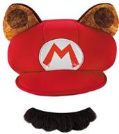 Raccoon Hat Mustache Adult