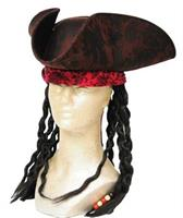 PIRATE HAT BROWN W DREAD