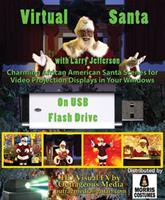 SANTA BLACK VIRTUAL DIGITAL DECOR Costume