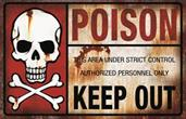 Metal Poison Sign
