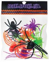 Assorted Plastic Spiders
