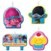 TROLLS BIRTHDAY CANDLE SET 6PK