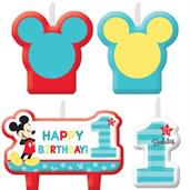 MICKEY BIRTHDAY CANDLE SET 6PK