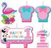 MINNIE BIRTHDAY CANDLE SET 6PK