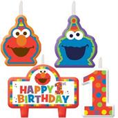 ELMO BIRTHDAY CANDLE SET 6PK/4