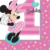 MINNIE 1ST BEV NAPKINS
