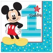 MICKEY 1ST LUNCH NAPKINS