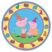 PEPPA PIG RND PLATES 7IN