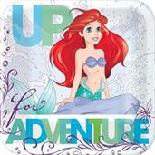 DISNEY ARIEL 1ST SQ PLATES 7IN