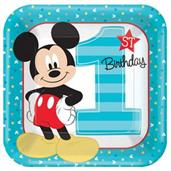 MICKEY 1ST SQUARE PLATE 9IN