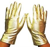 Gloves Reg Metallic Gold