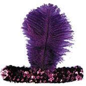 1920'S Headband Purple