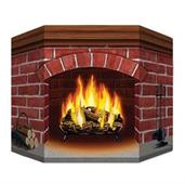 Brick Fireplace Standup