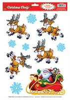 Santa Sleigh Window Clings