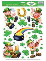 Leprechaun Shamrock Window Clings
