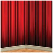 RED CURTAIN BACKDRP 4ft X 30FT