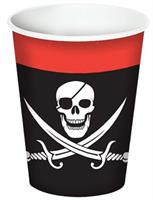 PIRATE BEVERAGE CUPS 9OZ 8PCS