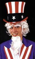 Uncle Sam Wig Goatee & Eyebrows