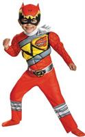 Red Ranger Dino Muscle Costume