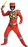 Red Ranger Dino Classic Muscle Costume 4-6