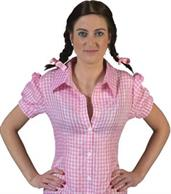 Checkered Body Shirt Pink/White