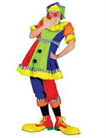Women's Spanky Stripes Clown Costume