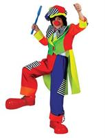 Boy's Spanky Striped Clown Costume