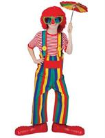 Unisex Striped Overalls Clown Costume