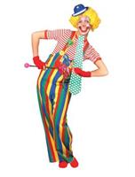 Men's Striped Clown Overalls
