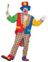 Adult Clown On The Town Costume