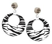 White Zebra Earrings