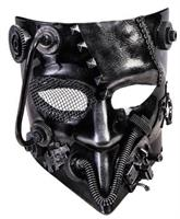 Adult Silver Jester Steampunk Mask