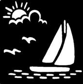 Sailboat Brass Stencil