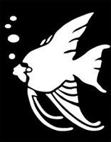 Tropical Fish Brass Stencil