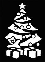 Stencil Christmas Tree, Brass