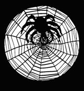Spider and Web Stencil