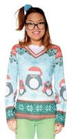 Women's Ugly Christmas Penguin T-Shirt