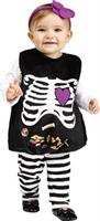 Girl's Skelly Belly Costume