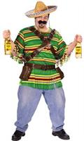 Adult Mexican Bandit Plus Size Costume