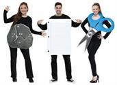 Adult Rock Paper Scissors Group Costume