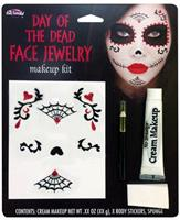 Day Of Dead Face Jewelry Makeup Kit