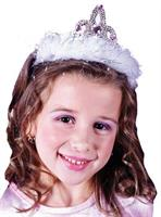 Diamond or Heart Marabou Tiara