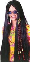 Wig Braided Hippie 33 Inches Black